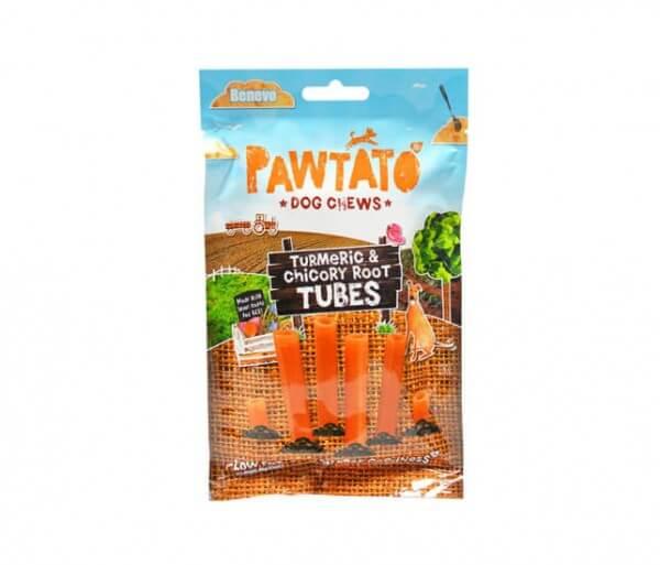 Benevo Pawtato Tubes Turmeric & Chicory Root veganer Kauknochen online bestellen