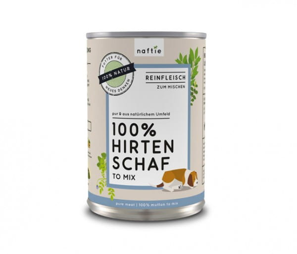 aftie Hirten Schaf to Mix 100 % pures Schaffleisch für Hunde, Reinfleisch für BARF