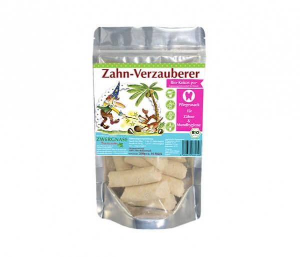 Zwergnase Zahn-Verzauberer Pflegesnack für Hunde, zuckerfrei aus 100% Bio Kokosmark