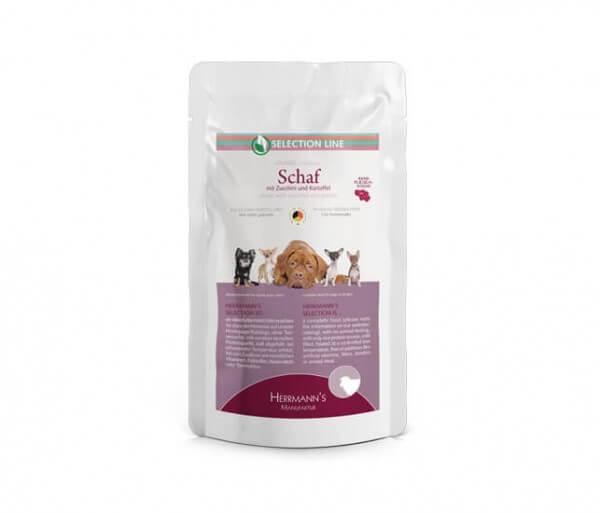 Herrmanns Schaf mit Bio-Zucchini und Bio-Kartoffeln