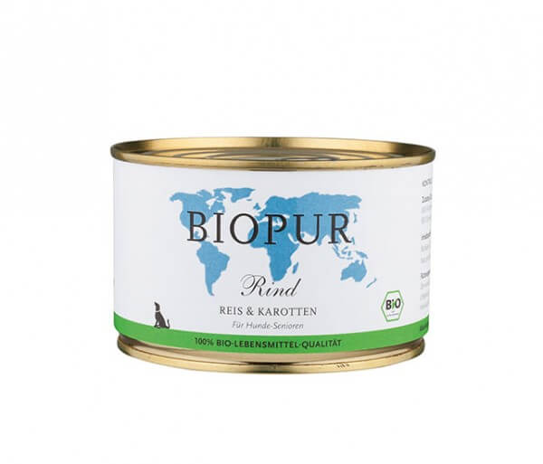Biopur Senior Rind, Reis & Karotten