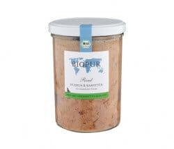 Biopur Rind, Nudeln & Karotten im Glas