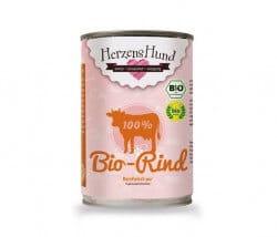 HerzensHund Bio Rind Reinfleisch pur 100% artgerechte Tierhaltung Reinfleischdosen für Hunde
