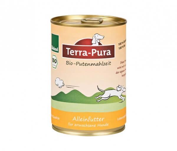 Terra-Pura Putenmahlzeit 800g Dose Bio-Alleinfutter für erwachsene Hunde