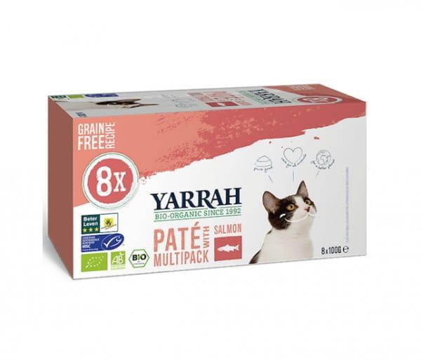 Yarrah Paté Multi-Pack Lachs mit Omega 3 & 6 für Katzen