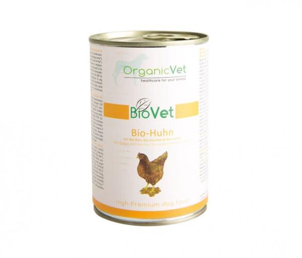 OrganicVet Huhn mit Reis, Zucchini & Kürbis für Hunde