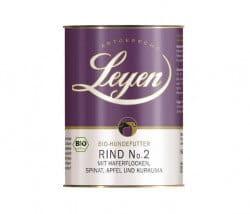 Leyen Rind No. 2 mit Haferflocken, Spinat, Apfel und Kurkuma Single-Protein BIO-Nassfutter für Hunde