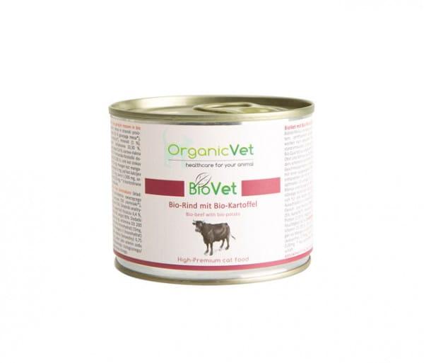 OrganicVet Rind mit Kartoffel für Katzen