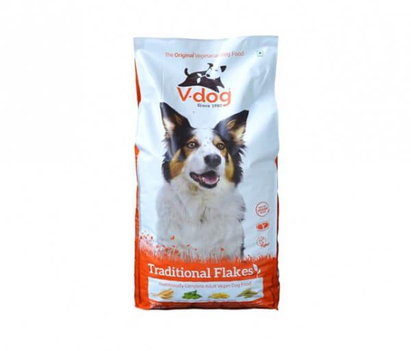 V-Dog Flocken veganes Hundefutter 15 kg (Traditional Flakes)
