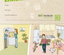 """Bio-Tierkost Einkaufsgutschein Motiv """"für jeden Anlass geeignet"""""""