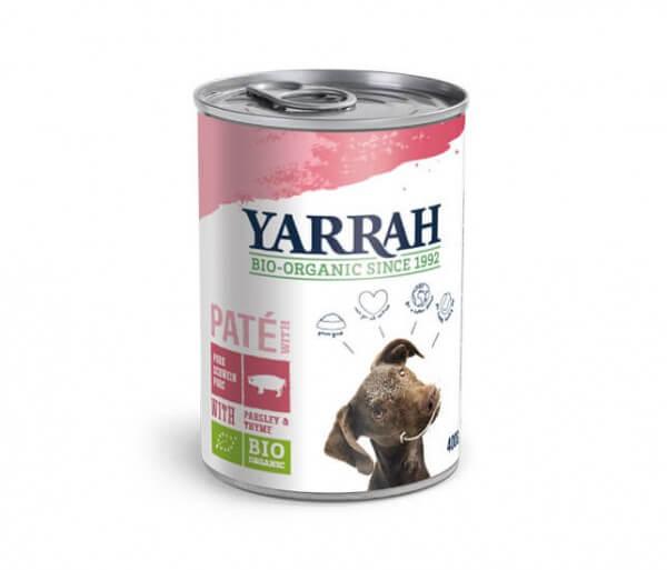Yarrah Paté mit Schwein für Hunde