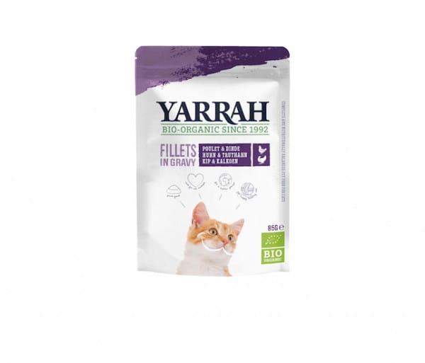 Yarrah Filets mit Truthahn in Soße im Pouch für Katzen