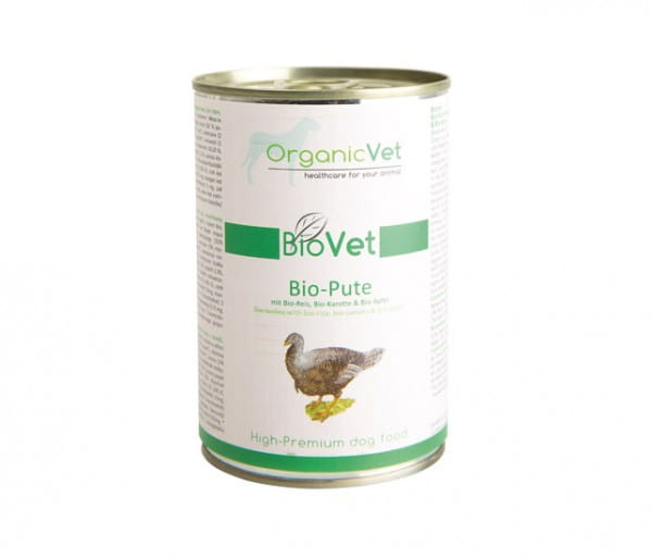 OrganicVet Pute mit Reis, Karotte & Apfel für Hunde