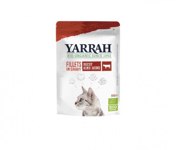 Yarrah Filets mit Rind in Soße im Pouch für Katzen