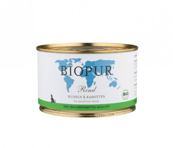 Biopur Hundefutter mit Rindfleisch - Lebensmittelqualität (Nassfutter)