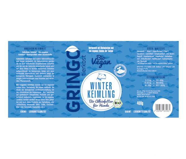Gringo Winter-Keimling gesundes Bio-Hundefutter mit Zutaten aus regionaler bio-veganer Landwirtschaft kaufen
