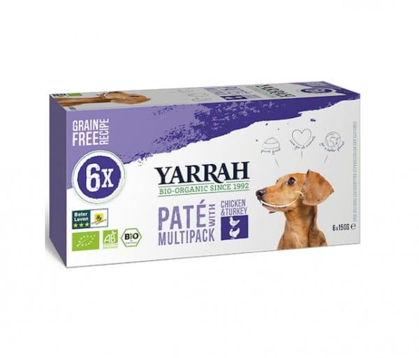 Yarrah Paté Multi-Pack Truthahn & Aloe Vera für Hunde
