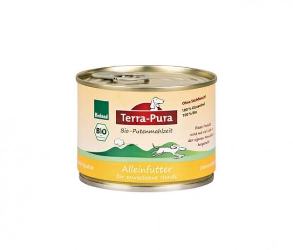 Terra-Pura Putenmahlzeit Bio-Nassfutter für Hunde 200g Dose