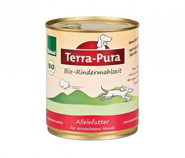 Bioland Hundefutter von Terra-Pura mit Rind, Hirse, Karotte und Apfel 400g