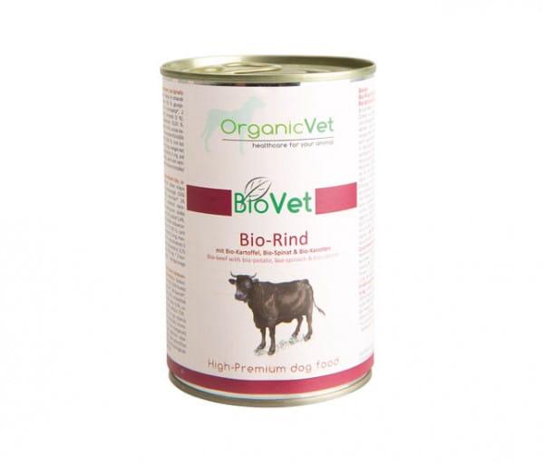OrganicVet Rind mit Kartoffel, Spinat & Karotten für Hunde