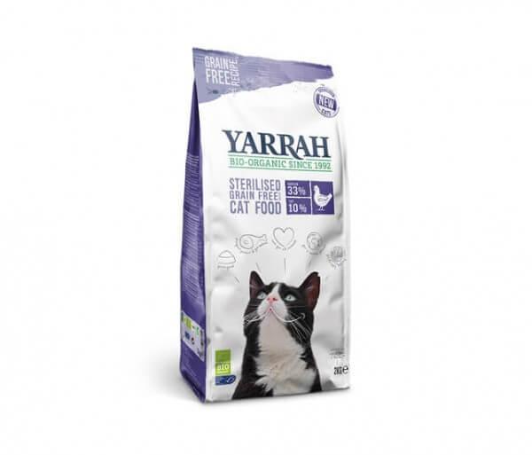 Yarrah Trockenfutter Grain-Free für sterilisierte Katzen