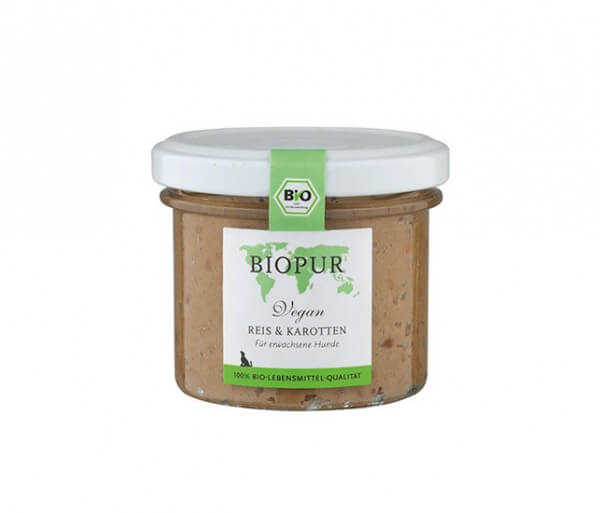Biopur Reis & Karotten im Glas (vegan)