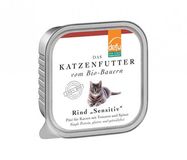 """Defu Rind """"Sensitive"""" Pâté für Katzen Zucchini und Karotte"""