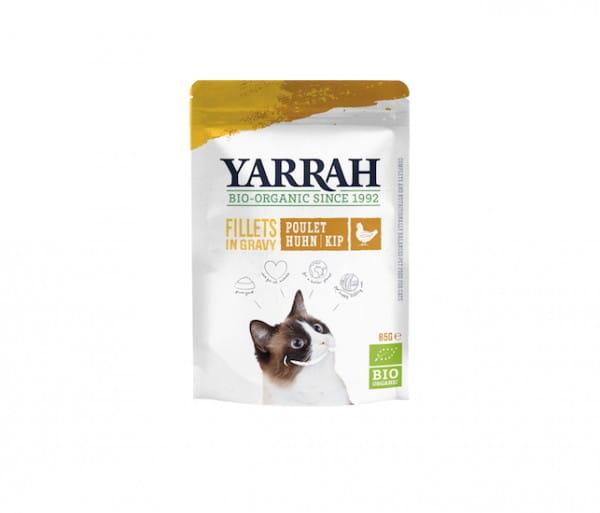 Yarrah Filets mit Huhn in Soße im Pouch für Katzen