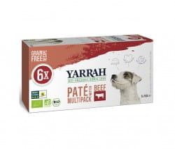 Yarrah Paté Multi-Pack Rind & Spirulina für Hunde